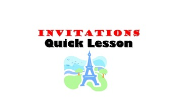 invitations french quick lesson by nicole french teacher in texas