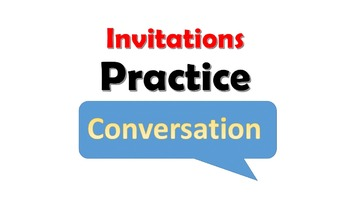 French Speaking Practice Activities for Invitations