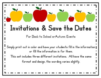 Invitations and Save the Dates!  Autumn Theme