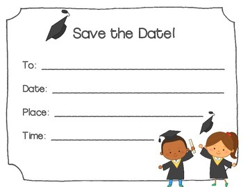 Graduation Invitations and Save the Dates (Blank)