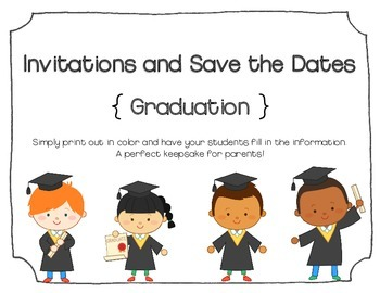 Kindergarten graduation invitations and save the dates blank by kindergarten graduation invitations and save the dates blank filmwisefo