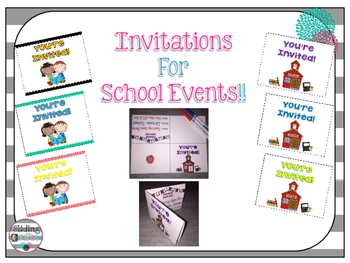 Invitations for School Events