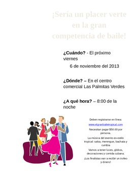 Invitations in Spanish to Different Events