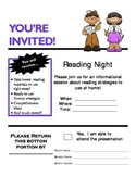 Invite to Parent Reading Night