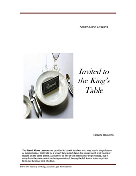 Invited to the King's Table