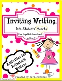 Inviting Writing Strategies for Reluctant Writers