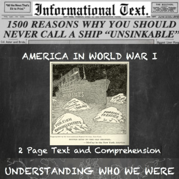 Involved or Isolated--America In World War 1