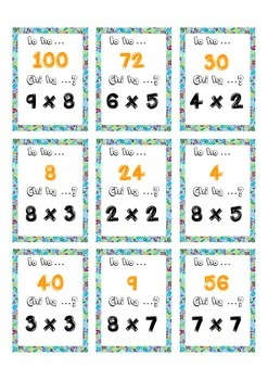 Io ho Chi ha  Multiplication tables