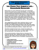 Ion Flame Test Inquiry Lab – Household Materials