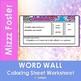 Ionic Bond Word Wall Coloring Sheet