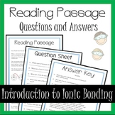 Ionic Bonding Distance Learning