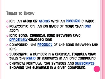 Ionic Bonding Notes - Interactive Notebook