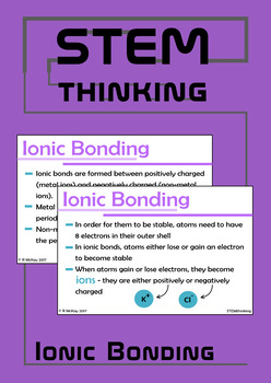 Ionic Bonding Powerpoint Presentation - Middle and High School Chemistry