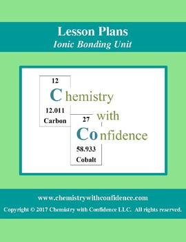 Ionic Bonding Unit - LESSON PLANS