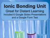 Ionic Bonding Unit for Distant Learning