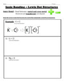 Ionic Bonding Using Lewis Dot Structures