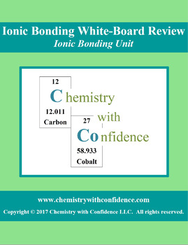 Ionic Bonding White-Board REVIEW