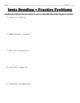 Ionic Bonding Worksheet (with included examples)