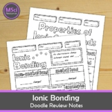 Ionic Bonding Substances Doodle Color Review Middle School Chemistry