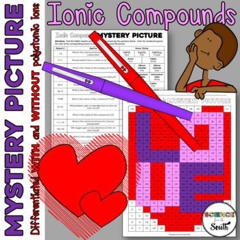 Ionic Bonds and Compounds Mystery Picture Worksheet for Review or Assessment