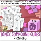 Ionic Compound Cubes Practice Activity
