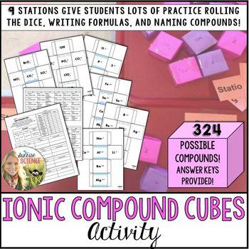 Ionic Compound Cubes Practice Activity