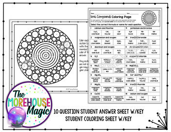 Music Note Reading Worksheets Pdf Ionic Compound Formulas Coloring Page By The Morehouse Magic  Tpt 30 60 90 Triangle Worksheet with Parts Of Speech Sentences Worksheets Excel Ionic Compound Formulas Coloring Page Oa Worksheets Excel