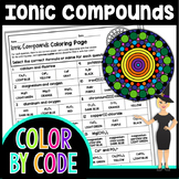 Ionic Compound Formulas Science Color By Number or Quiz
