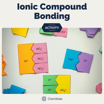 Ionic Compound Formation Puzzle Pieces and Worksheet