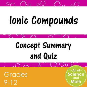 Ionic Compounds - High School Science