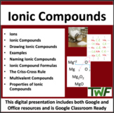 Ionic Compounds - Chemistry PowerPoint Lesson, Worksheet & Notes Package