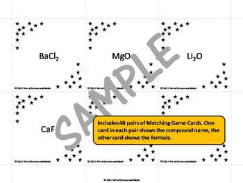 Ionic Compounds Matching Game - High School Science