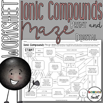Ionic Compounds Maze for Review or Assessment of Nomenclature