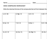 Ionic Compounds Worksheet