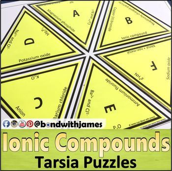 Ionic Compounds and Ionic Bonding Tarsia Puzzles