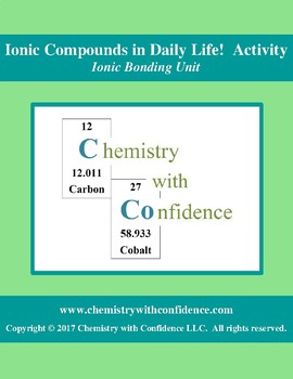 Ionic Compounds in Daily Life! ACTIVITY