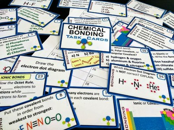 Ionic & Covalent Bonding~ 28 Chemistry Task Cards~