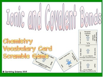 Ionic & Covalent Bonds Chemistry Scramble Card Game