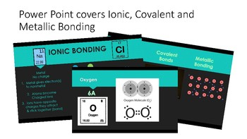 Ionic Covalent and Metallic Bonding Notes and Powerpoint