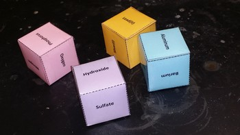 Ionic Dice Game (practice writing & naming ionic compounds)