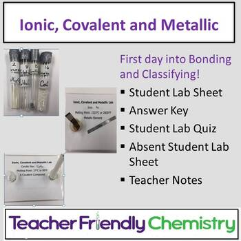 Chemistry Lab: Ionic, Covalent and Metallic Bonding