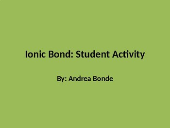 Ionic Nomenclature Dice Activity