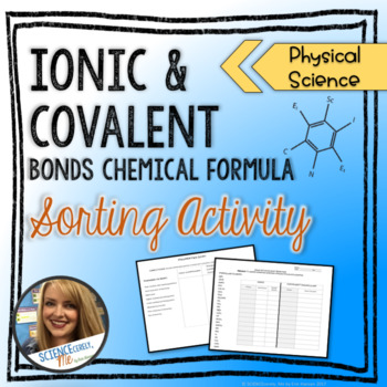 Ionic and Covalent Bonds Sorting Activity