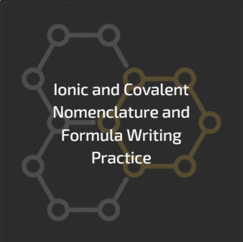 Ionic And Covalent Nomenclature Worksheet And Guide Tpt