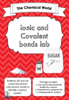 Ionic and Covalent bond properties lab