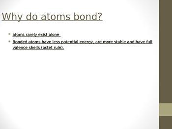 Ionic bonding and formula writing unit powerpoint