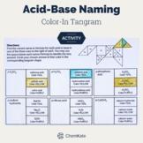 Acid Base Naming Color-In Tangram Worksheet   Distance Learning