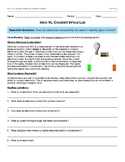 Ionic vs Covalent Bonding Virtual Lab / Webquest (conductivity) PS1-2 PS 1-3