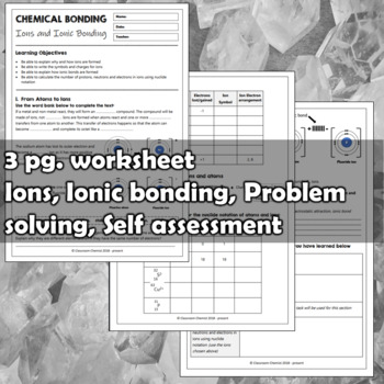 Ions and Ionic Bonding