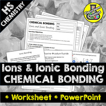 Ionic Bonding Notes Worksheets Teaching Resources TpT